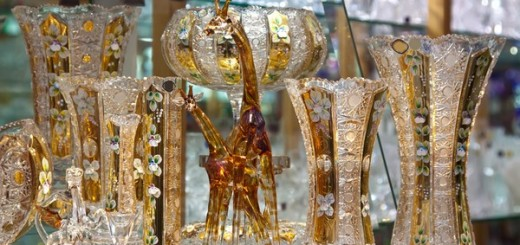 counter with bohemian crystal