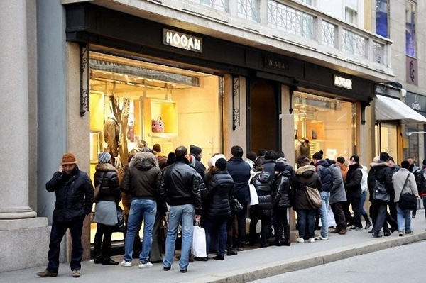 Winter Sales In Milan