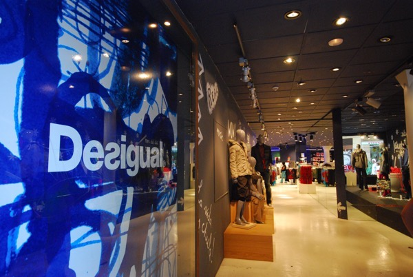 Desigual was a popular Spanish fashion chain.