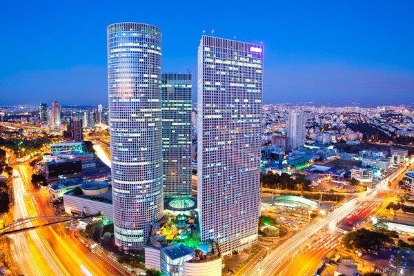 Tel Aviv at sunset, Israel